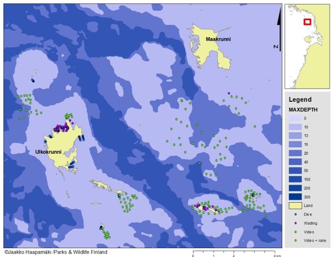 Map of Krunnit-archipelago.