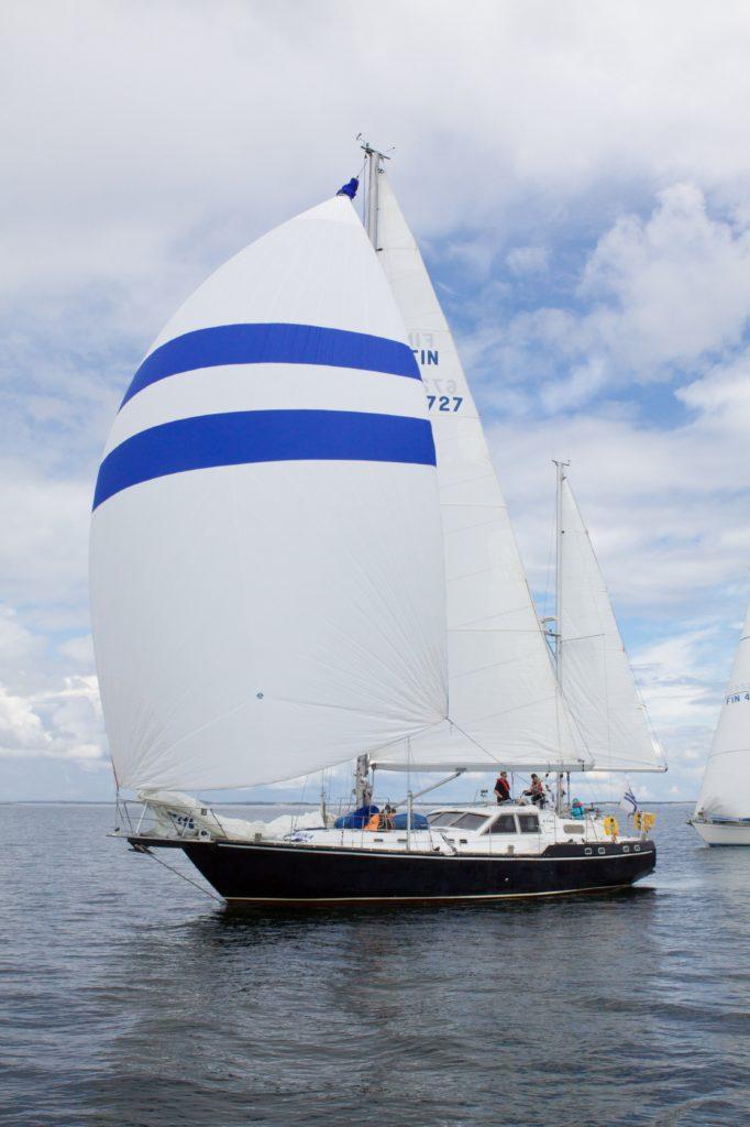 A sail boat.