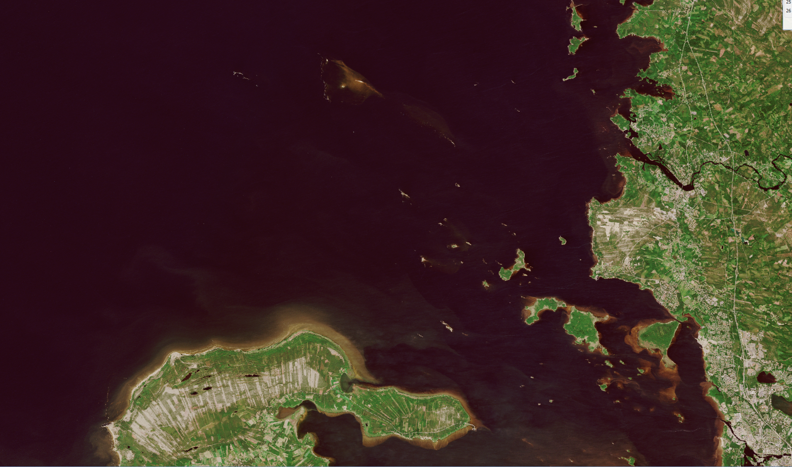 Satellite image of sea area north from Hailuoto.