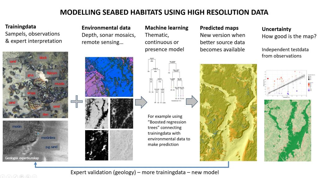 Modelling seabed habitats using high resolution data. Chart picture.