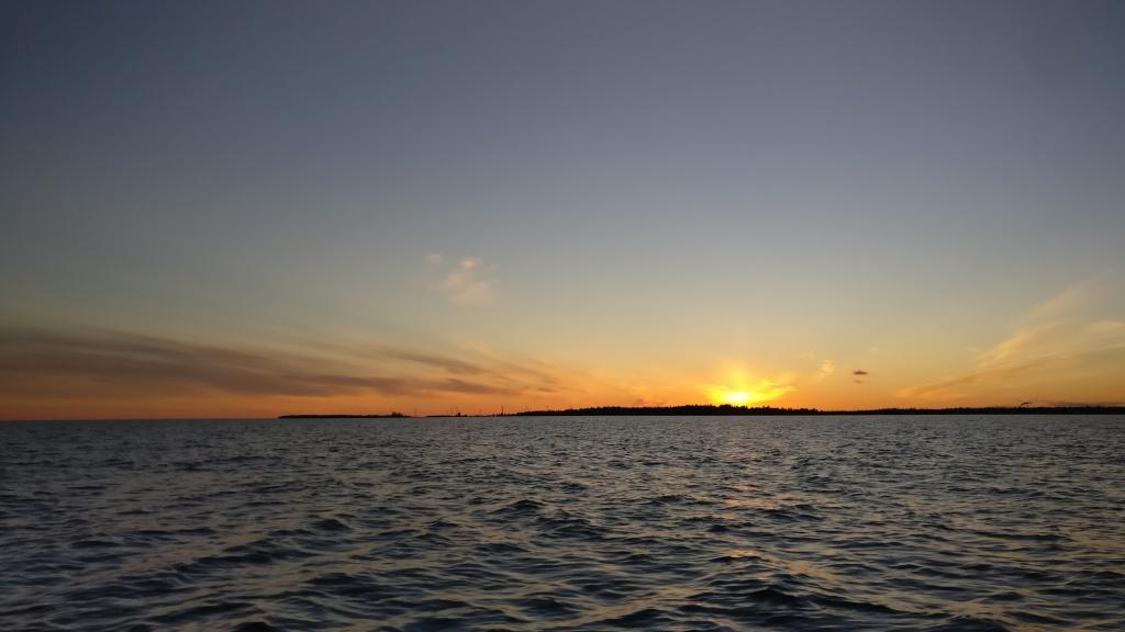Beautiful sunset at the sea.