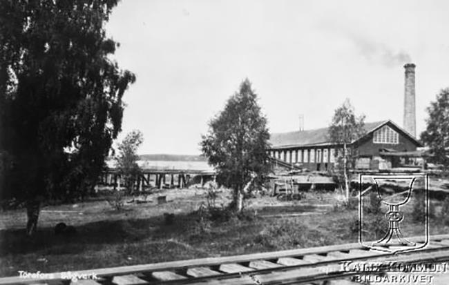 Historical picture from the sawmill in Törefors
